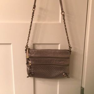 Elliott Lucca cross body bronze purse